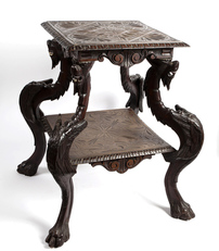 Wooden table, 19th century
